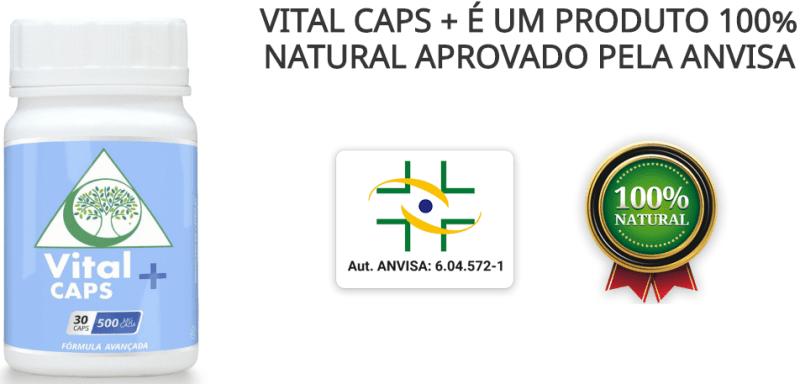 Vital Caps + Suplemento Natural contra Ansiedade, Depressão e Insonia autorizado pela anvisa