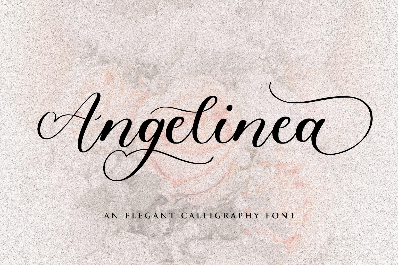 Angelinea Elegant Calligraphy Font1