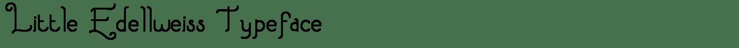 Little Edellweiss Typeface