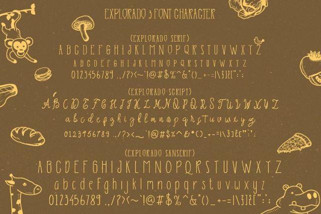Explorado Typeface