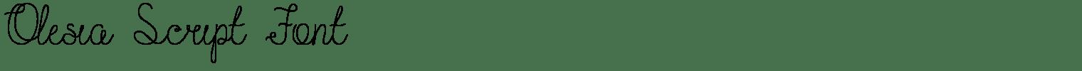 Olesia Script