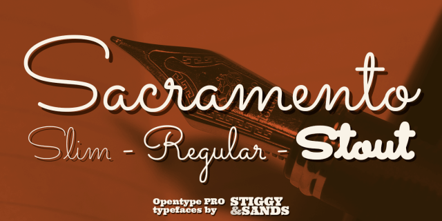 Sacramento Pro Font Family