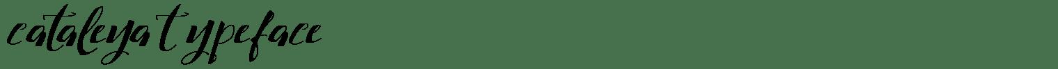 Cataleya Typeface