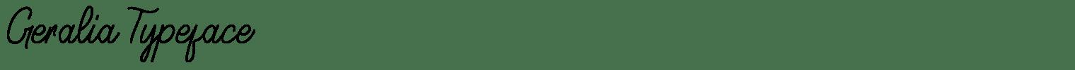 Geralia Typeface