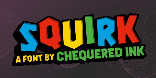 Squirk Typeface