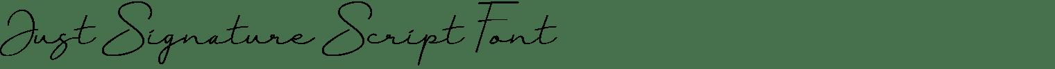 Just Signature Script