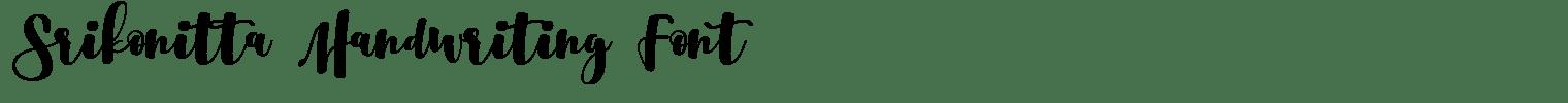 Srikonitta Handwriting