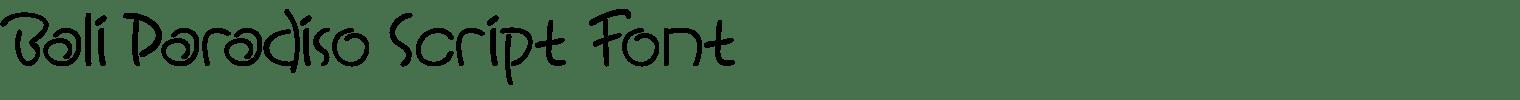 Bali Paradiso Script Font