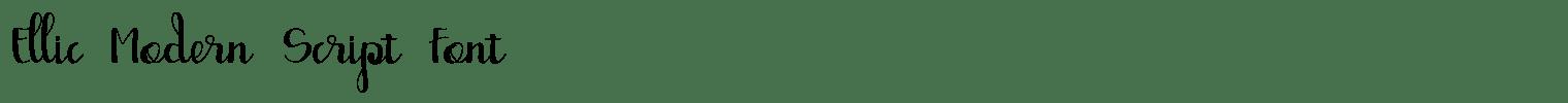 Ellic Modern Script Font
