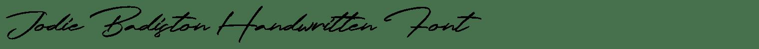 Jodie Badiston Handwritten Font