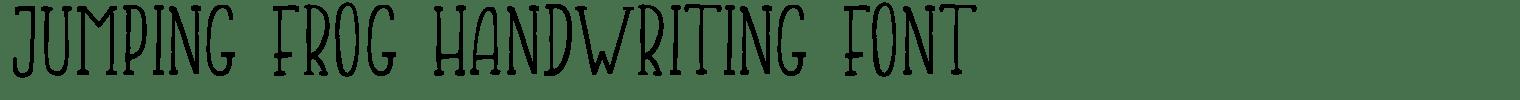 Jumping Frog Handwriting Font