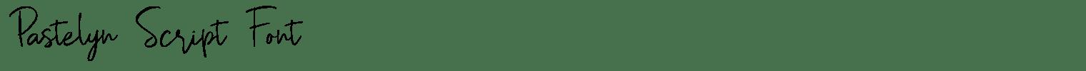 Pastelyn Script Font