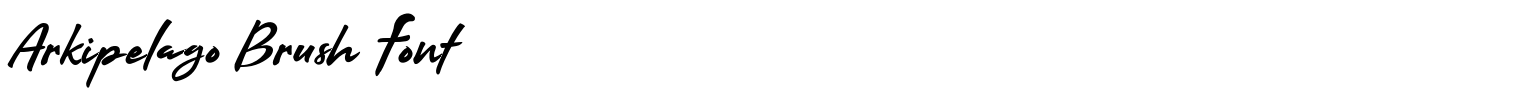 Arkipelago Brush Font