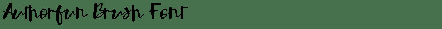 Authorfun Brush Font