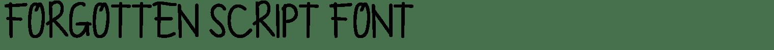 Forgotten Script Font