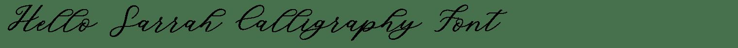 Hello Sarrah Calligraphy Font