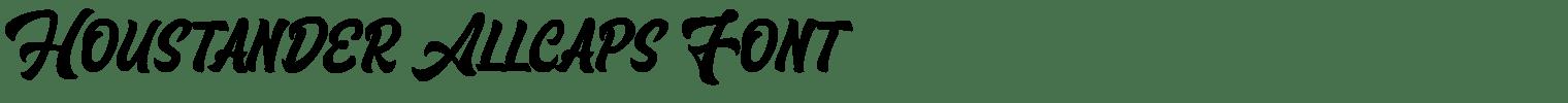 Houstander Allcaps Font