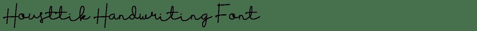 Housttik Handwriting Font