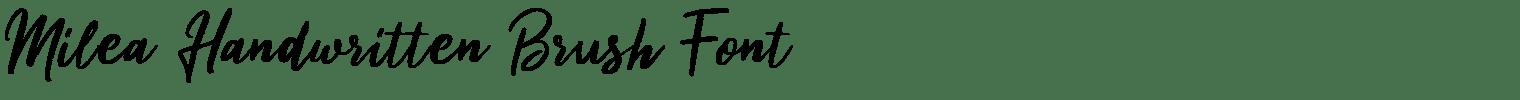 Milea Handwritten Brush Font