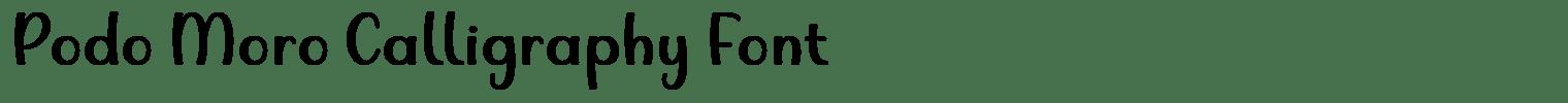 Podo Moro Calligraphy Font
