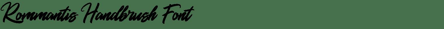 Rommantis Handbrush Font