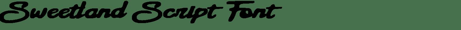 Sweetland Script Font