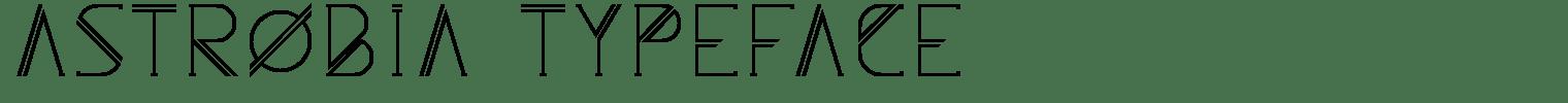 Astrobia Typeface