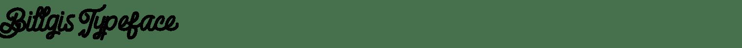 Billgis Typeface