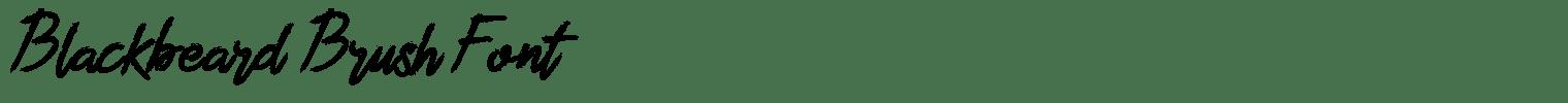 Blackbeard Brush Font