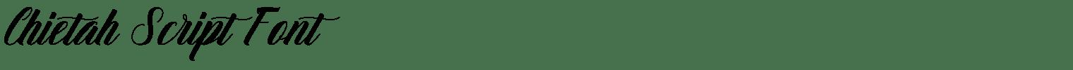 Chietah Script Font