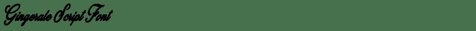 Gingerale Script Font
