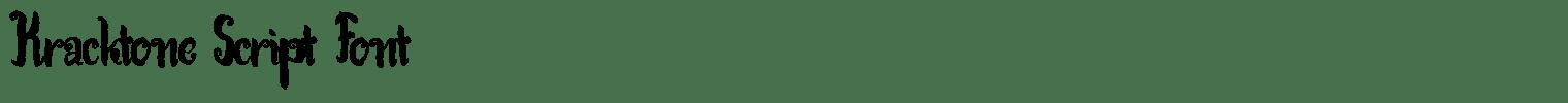 Kracktone Script Font