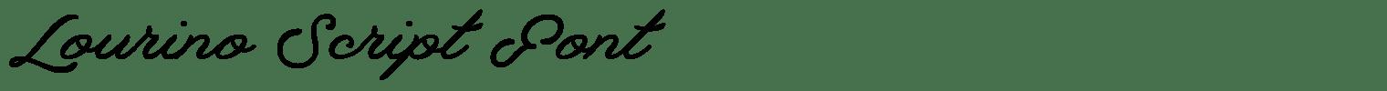 Lourino Script Font