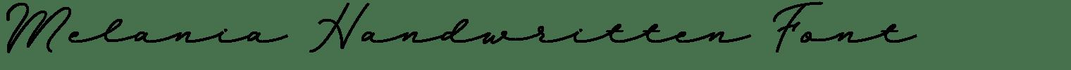 Melania Handwritten Font
