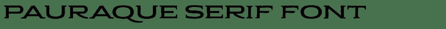 Pauraque Serif Font