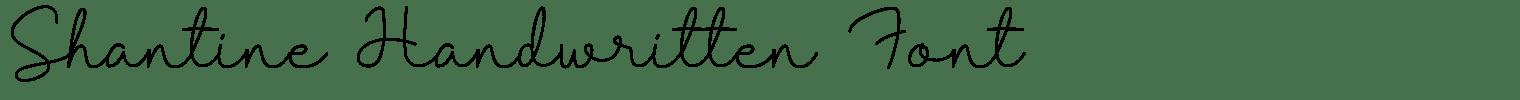 Shantine Handwritten Font