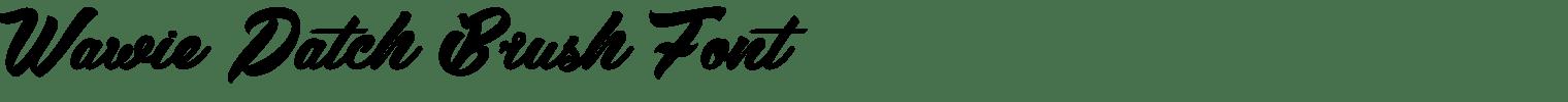 Wawie Patch Brush Font
