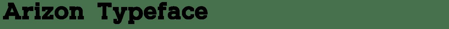 Arizon Typeface