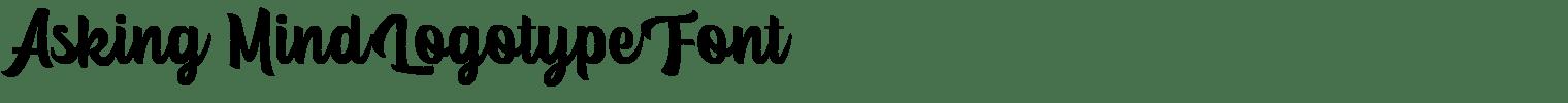 Asking Mind Logotype Font