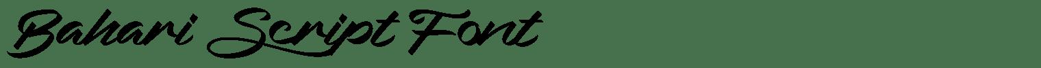 Bahari Script Font