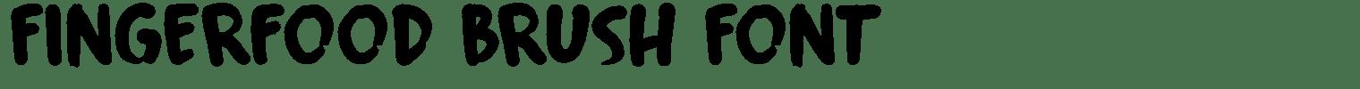 Fingerfood Brush Font
