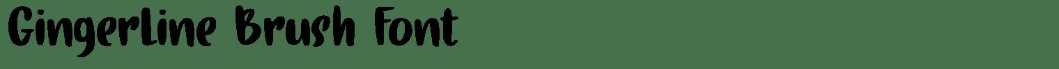 Gingerline Brush Font