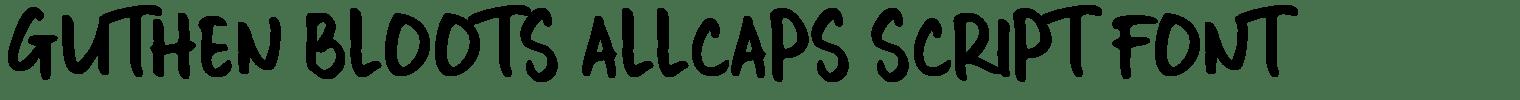 Guthen Bloots Allcaps Script Font