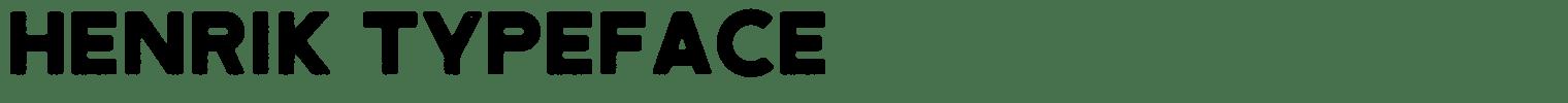 Henrik Typeface