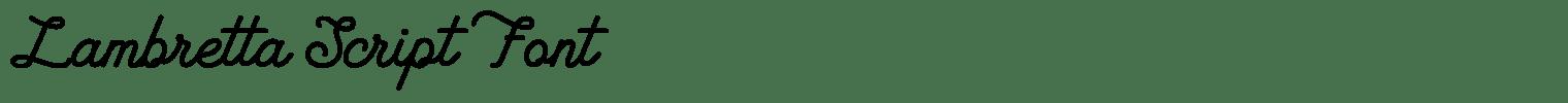 Lambretta Script Font