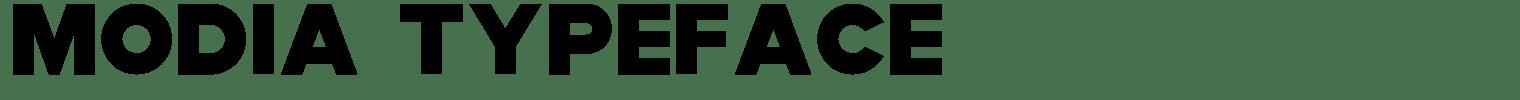 Modia Typeface