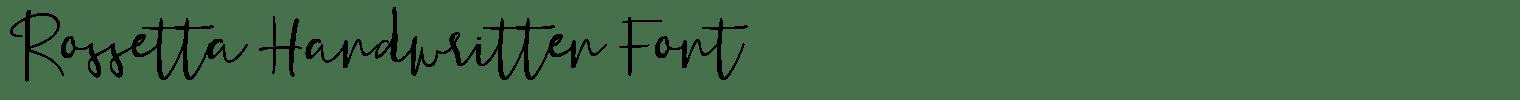 Rossetta Handwritten Font