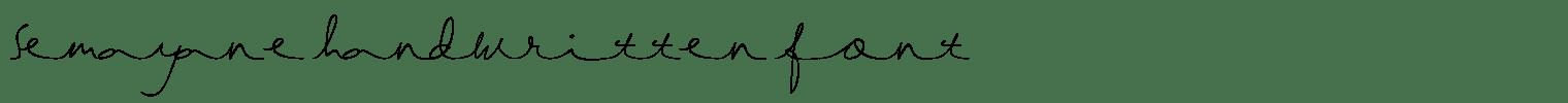semayane handwritten font