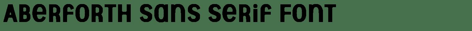 Aberforth Sans serif Font