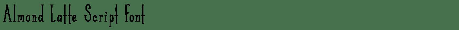 Almond Latte Script Font